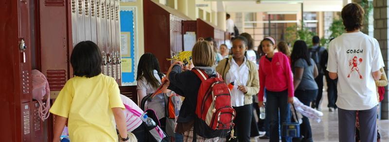 Middle Schoolers in Hallway